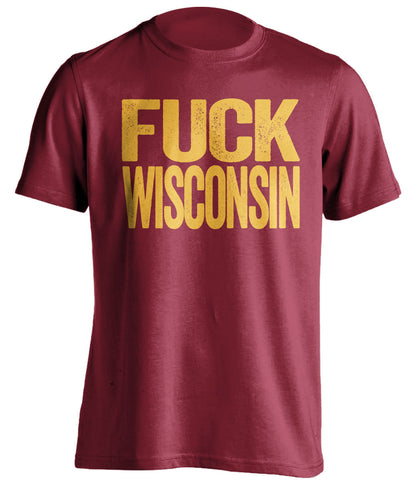 fuck wisconsin minnesota gophers red tshirt