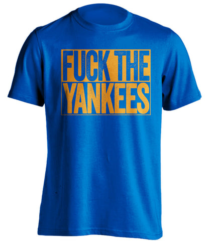 fuck the yankees new york mets blue shirt