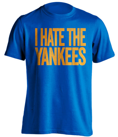 i hate the yankees new york mets blue shirt