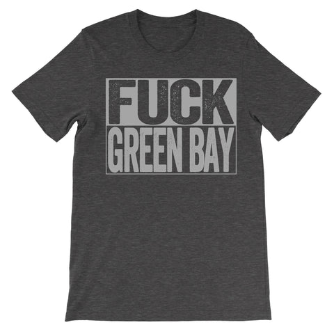 fuck Green Bay haters dark grey shirt