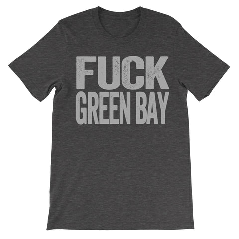 fuck Green Bay haters dark grey tee