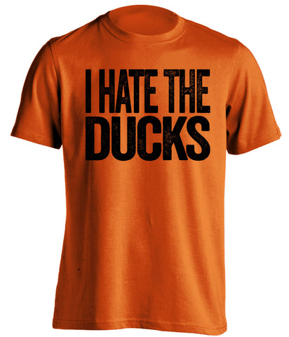 I Hate The Ducks - Oregon State Beavers T-Shirt - Text Design