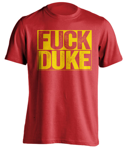 FUCK DUKE - Maryland Terrapins T-Shirt - Box Design