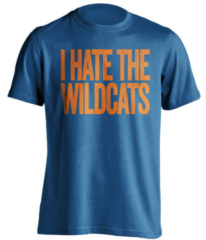 i hate the wildcats florida gators fan blue shirt