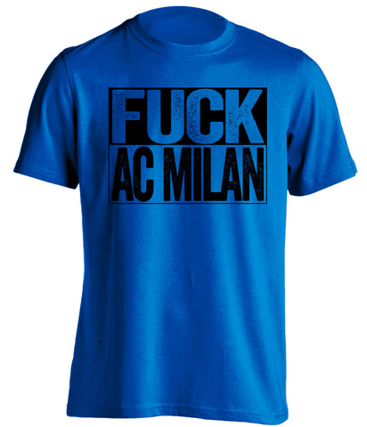 fuck ac milan blue and black tshirt uncensored