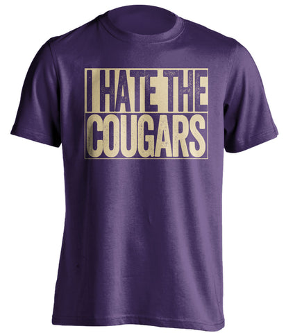 I Hate The Cougars Washington Huskies purple TShirt