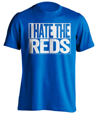 i hate the reds everton fc fan blue shirt