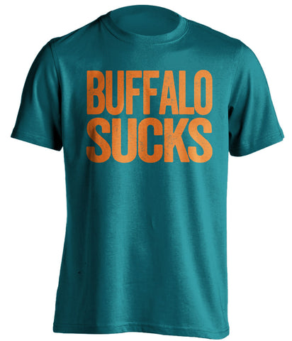 buffalo sucks shirt miami dolphins fan teal tshirt