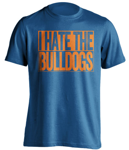 I Hate The Bulldogs Florida Gators blue TShirt