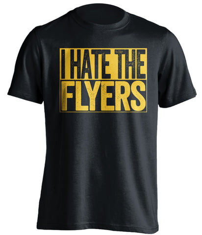 I Hate The Flyers Pittsburgh Penguins black TShirt