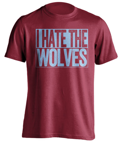 i hate the wolves red and blue tshirt villa fans