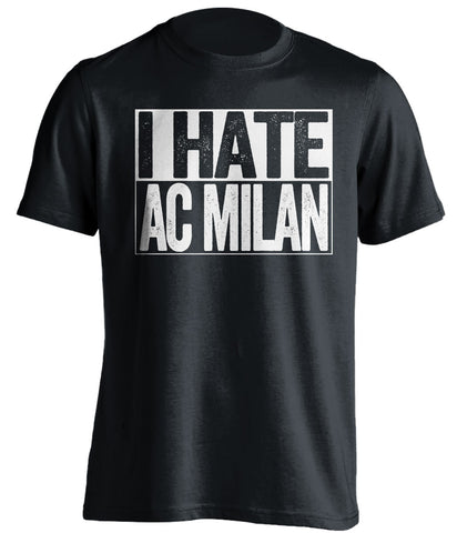 i hate ac milan black and white tshirt