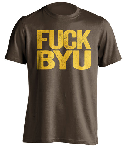 FUCK BYU Wyoming Cowboys brown Shirt