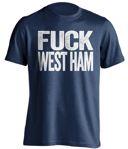 FUCK WEST HAM - Millwall FC Fan T-Shirt - Text Design - Beef Shirts