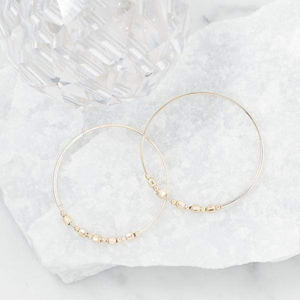 Cube Bead Hoops Accessories AMY TAMBLYN