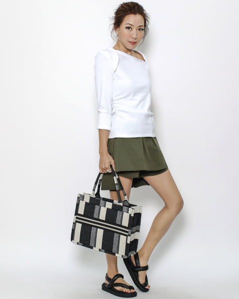 black stripes canvas tote small bag *pre-order