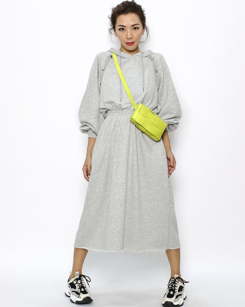 grey hoodie sweatshirt dress