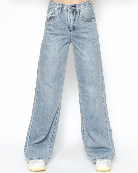 light blue denim straight legs pants *pre-order*