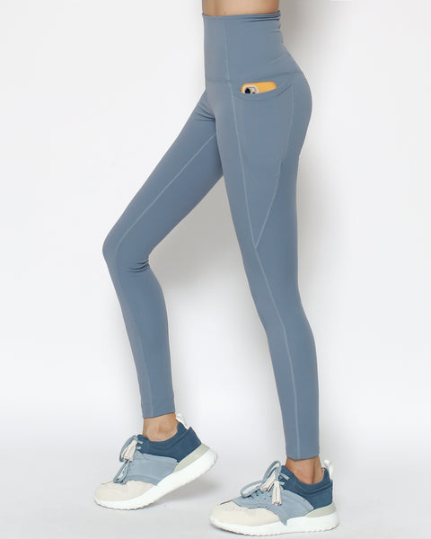 blue seams sports ankle leggings with pockets *pre-order*