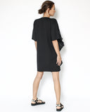black with shirt ruffles front tee dress *pre-order*
