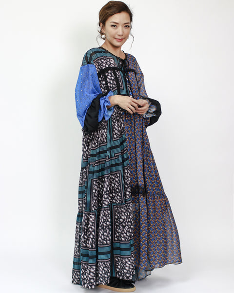 printed chiffon longline dress *pre-order*