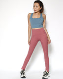pink seams sports leggings with pockets *pre-order*