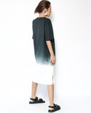 ink ombre midi length tee dress *pre-order*