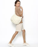 ivory quilted ruched cross-body fabric bag *pre-order