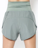 pale green high waist sports shorts *pre-order*
