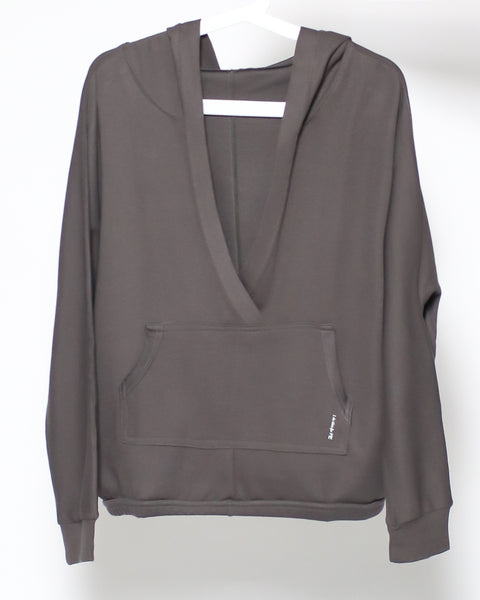 dark grey open front sports hoodie sweatshirt *pre-order*