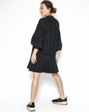 black slinky pleats dress *pre-order*