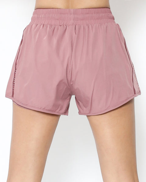 pink cage hem sports shorts *pre-order*