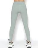 light green seams sports ankle leggings with pockets *pre-order*