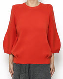 red knitted basic top