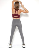 grey seams sports ankle leggings with pockets *pre-order*