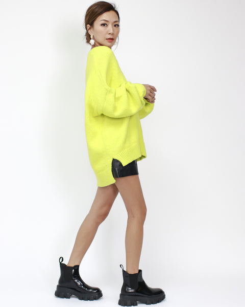 Bright yellow knitted cardigan *pre-order*