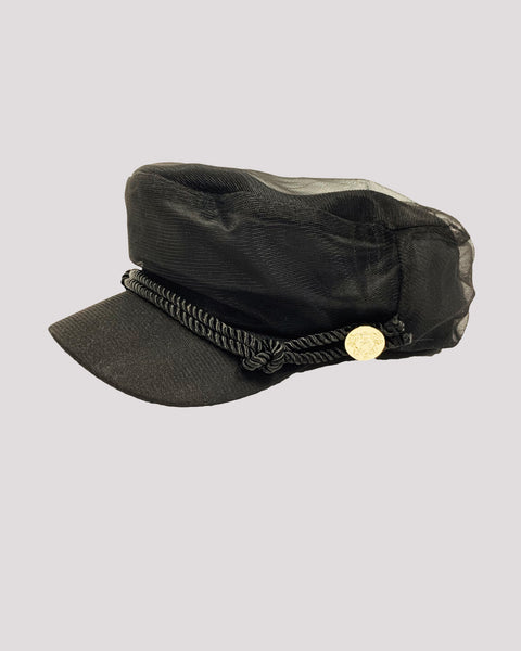black mesh layer boy cap