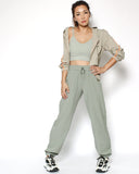 beige green cropped sports jacket *pre-order*