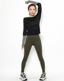 black & grey sleeves sports top *pre-order*