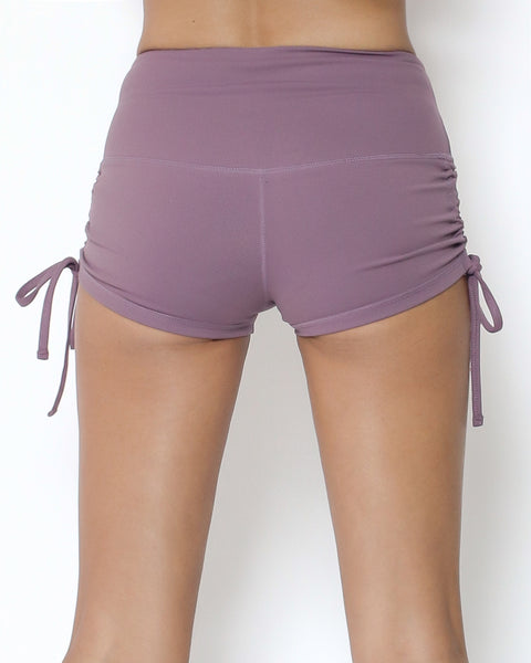 light purple ruched side mini short *pre-order*