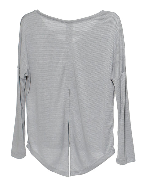grey stripes sports top *pre-order*
