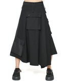 black pockets wrap skirt *pre-order*