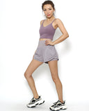 lilac high waist sports shorts *pre-order*