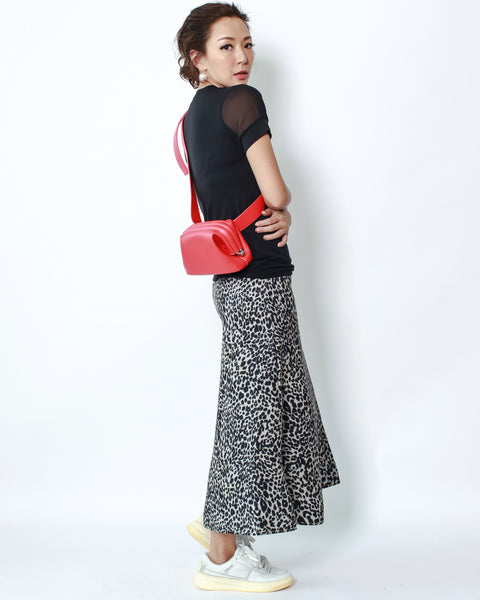 red PU leather waist bag *pre-order*