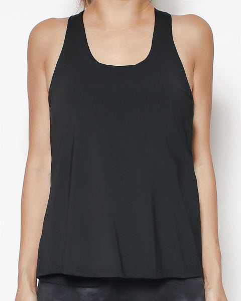 black strappy back together sports vest *pre-order*