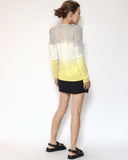 grey ivory & yellow ombre knitted cardigan *pre-order*