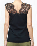 black knitted vest with lace *pre-order*