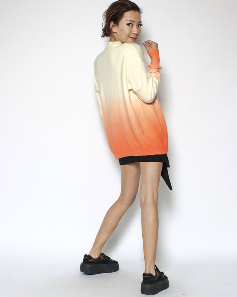 ivory & orange ombre knitted top *pre-order*