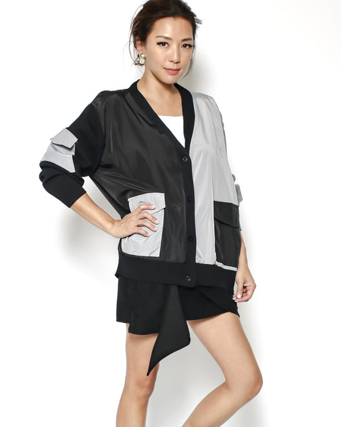 black & grey contrast jacket