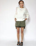 army green asymmetric shirt skort *pre-order*
